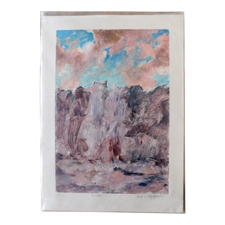 1980s Original Monoprint, 'Cascades' For Sale