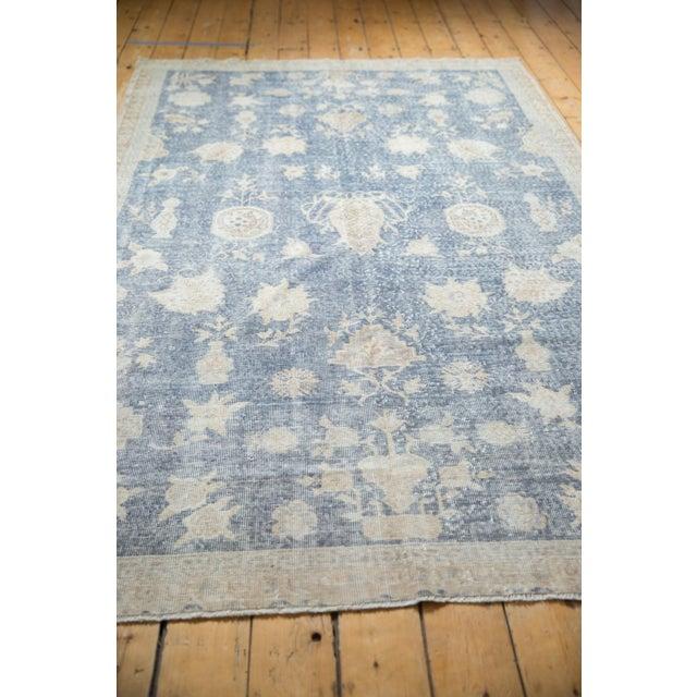 """Sky Blue Vintage Distressed Fragment Sparta Carpet - 5'7"""" X 9'1"""" For Sale - Image 8 of 11"""