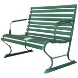 Image of Small Green Garden Bench For Sale