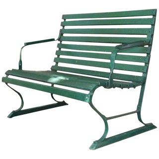 Small Green Garden Bench For Sale