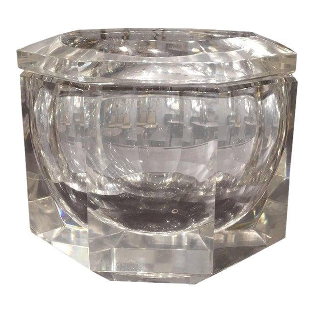 Mid-Century Modern Carole Stupell Style Lucite Ice Bucket For Sale
