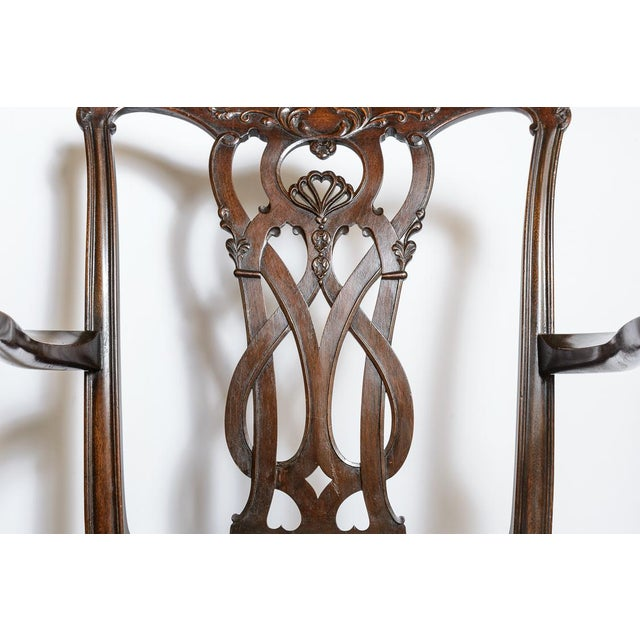 1900 - 1909 Set of 8 Chippendale Style Dining Chairs For Sale - Image 5 of 9