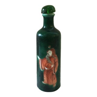 Old Porcelain Snuff Bottle w/Figures For Sale