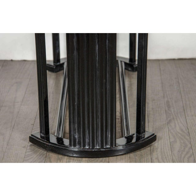 Art Deco Bauhaus Style Cocktail or Occasional Table in Black Lacquer and Glass - Image 6 of 8