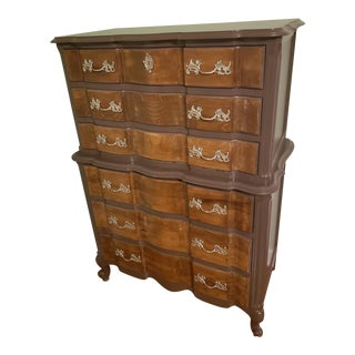 French Provincial Highboy Dresser For Sale