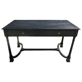 Black Writing Desk With Two Drawers For Sale