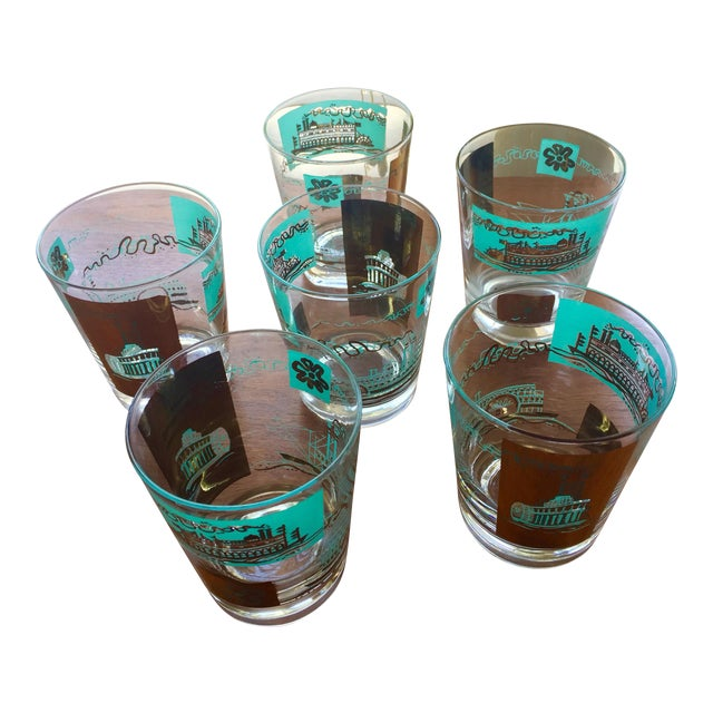 1968 Libbey Riverboat Old-Fashioned Glasses - Set of 6 - Image 1 of 6