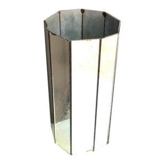 Postmodern Mirrored Cylinder Vase For Sale