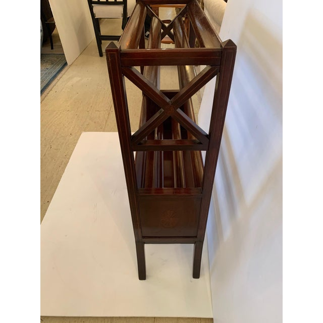 19th Century Mahogany & Satinwood Book Trough Shelving Unit For Sale - Image 11 of 13