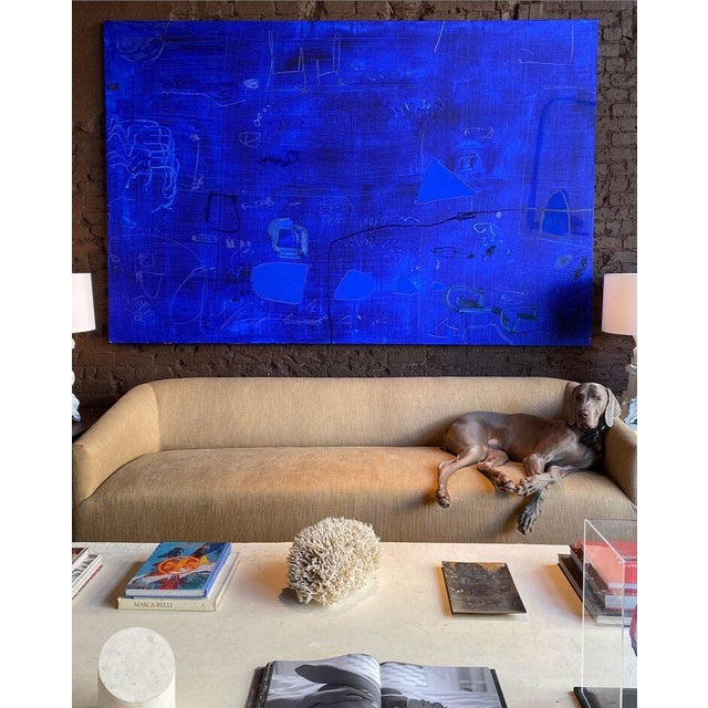Enormous abstract painting by artist William McLure. Acrylic and oil on stretched canvas. Highly textural; gestural mark...
