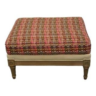 Lillian August Contemporary Modern Upholstered Lounge Accent Bergere Ottoman For Sale