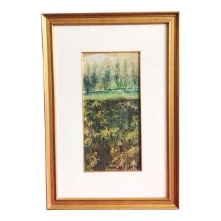 Vintage Impressionist Landscape Oil Painting For Sale