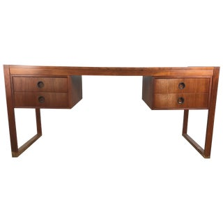 Danish Modern Teak Desk by Dansk Denmark For Sale