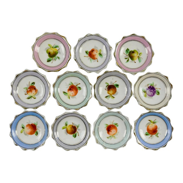 Porcelain Nut Candy Dishes Fruit Design - Set of 11 - Image 1 of 5