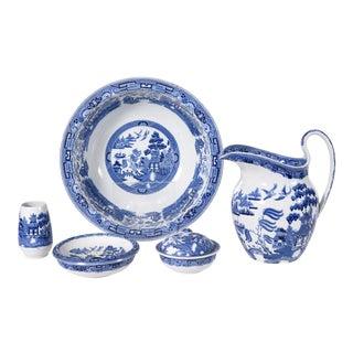 Wedgwood England Porcelain Dinnerware - 5 Piece Set For Sale