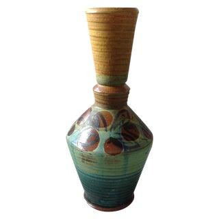 French Modern Art Studio Pottery Vase For Sale