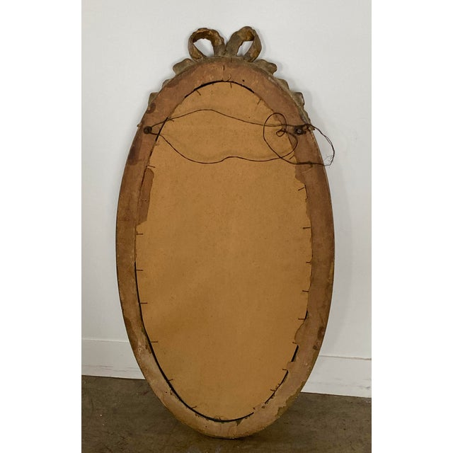 Brown Louis XVI Carved Giltwood Mirror For Sale - Image 8 of 10