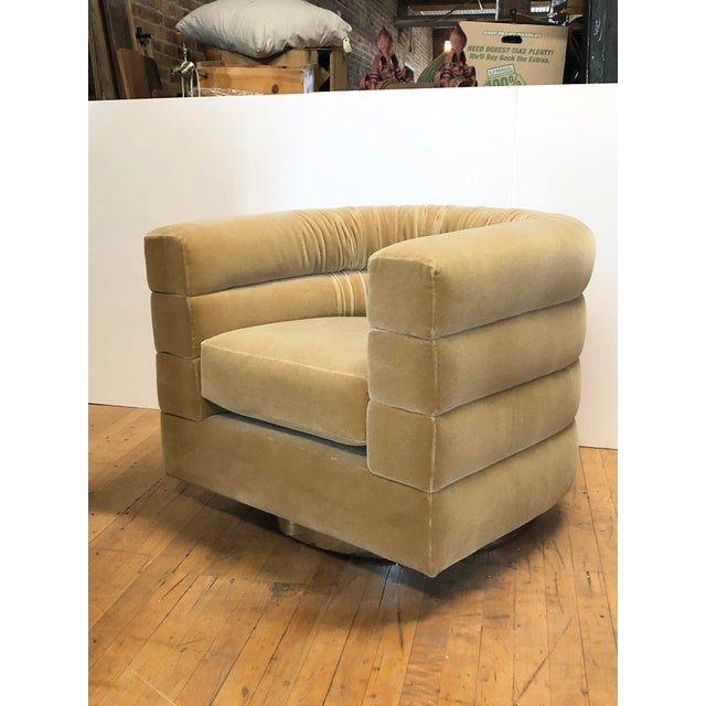 Mid-Century Modern Mid Century Lounge Swivel Chair by Milo Baughman For Sale - Image 3 of 7