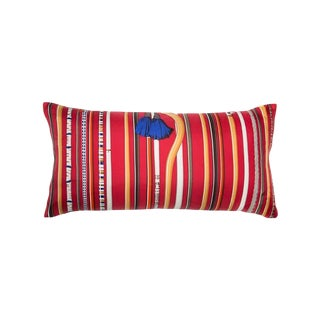 """Les Cannes"" Hermès Silk Scarf Pillow For Sale"