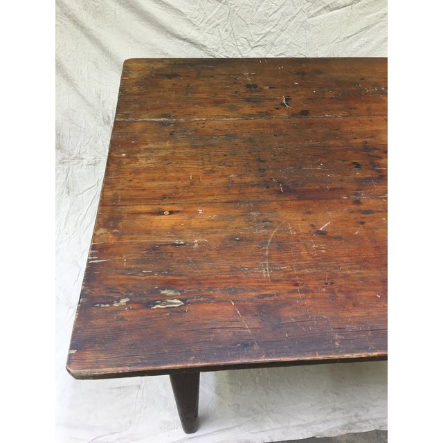 Vintage Rustic Hand Made Farm Table For Sale In Washington DC - Image 6 of 11