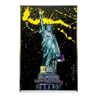 """Mr. Brainwash """" Liberty """" Rare Authentic Lithograph Print Framed Pop Art Poster For Sale"""