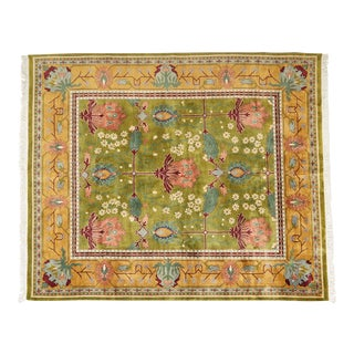 Vintage Arts & Crafts Style Indian Wool Rug For Sale