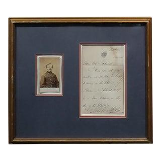 Daniel Sickles -Us Civil War General-Original Signed Letter & CDV Photo -C1860 For Sale