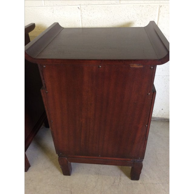 Rosewood Asian Style End Tables - A Pair For Sale - Image 7 of 8