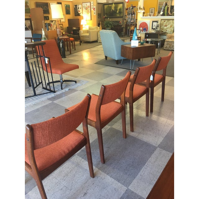 Mid-Century Teak Dining Chairs - Set of 4 - Image 4 of 8