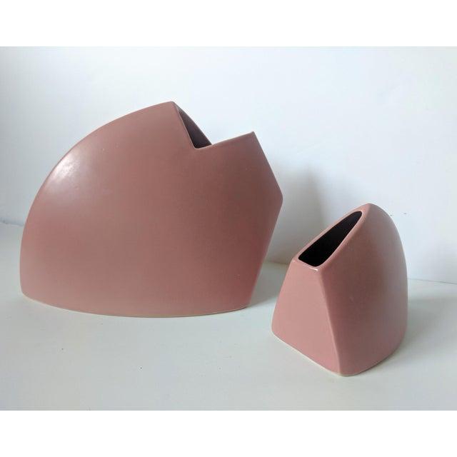 Set of 2- 1980s Modernist J Johnston Sculptural Vessels For Sale - Image 4 of 12