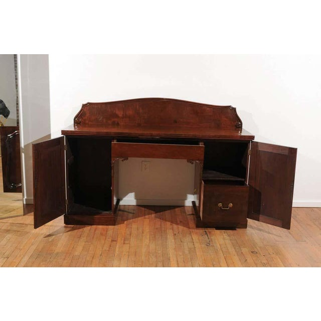 English William IV Mahogany Pedestal Sideboard For Sale - Image 3 of 11
