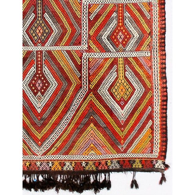 Circa 1940's Turkish Kilim Rug - 4′5″ × 6′3″ - Image 4 of 5