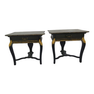 Hollywood Regency Side Tables, 1940s - A Pair