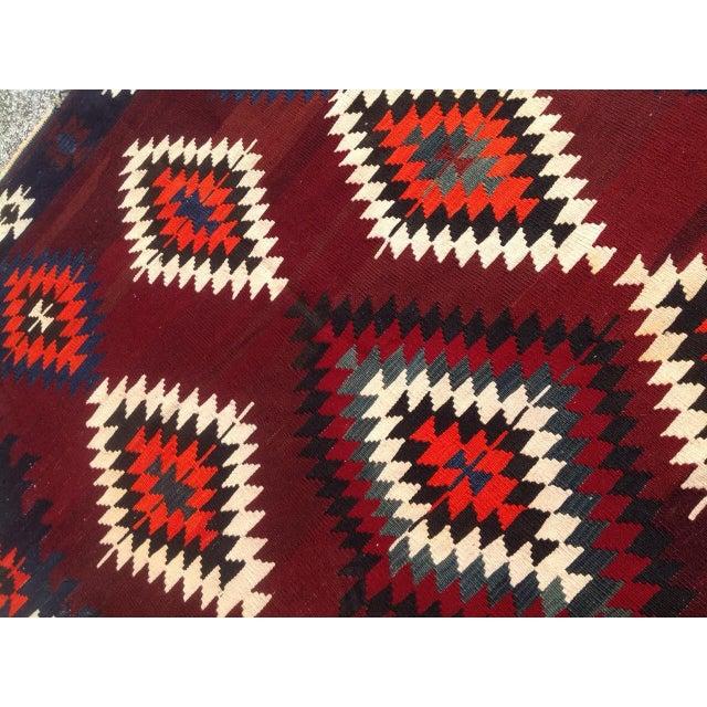 Vintage Turkish Kilim Rug - 5′6″ × 8′4″ For Sale In Raleigh - Image 6 of 8