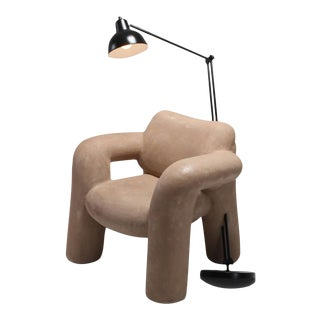 Blown-Up With Lamp in Vegan Leather Coating by Schimmel & Schweikle For Sale