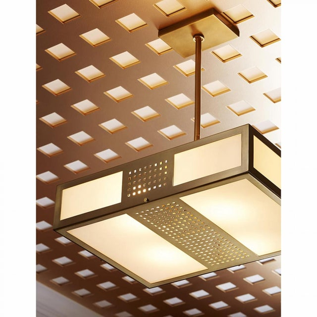 Celerie Kemble for Arteriors Bisger Square Pendant For Sale - Image 10 of 11