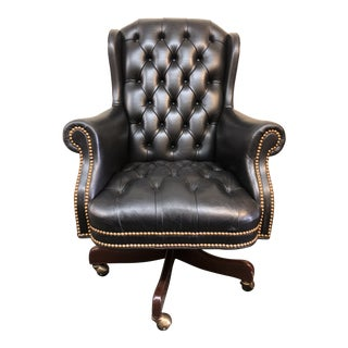 Hancock & Moore Black Leather Berwind Swivel Tilt Executive Chair