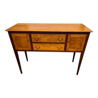 Matthew Burak Tiger Maple Side Table For Sale