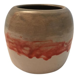 Red Glazed Pottery Vase