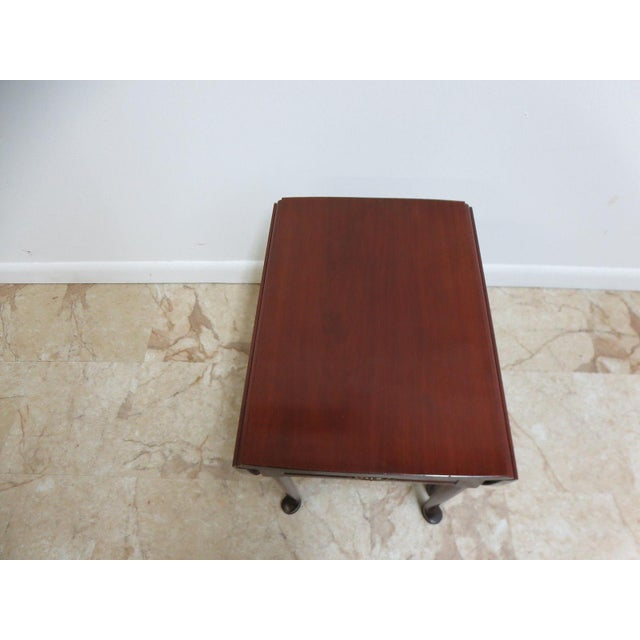 Brown Cherry Queen Anne Gate Leg Drop Leaf Table For Sale - Image 8 of 11