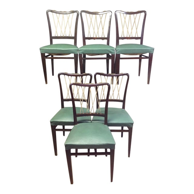 Mid-Century Italian Rope Back Dining Chairs - Set of 6 - Image 1 of 11