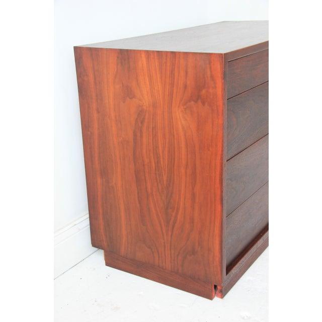 Vintage Mid-Century Modern Walnut 4-Drawer Dresser - Image 2 of 7