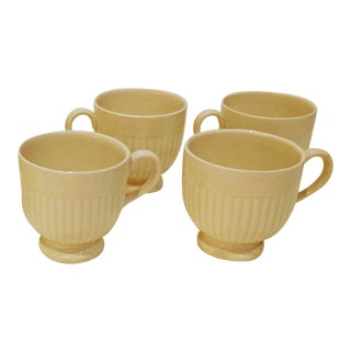 Vintage Wedgwood Creamware Edme Etruria Footed Cups - Set of 4 For Sale