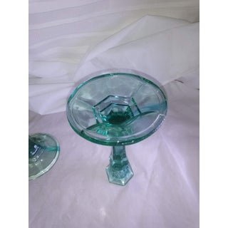 1940s Glass Candle Holders - a Pair Preview