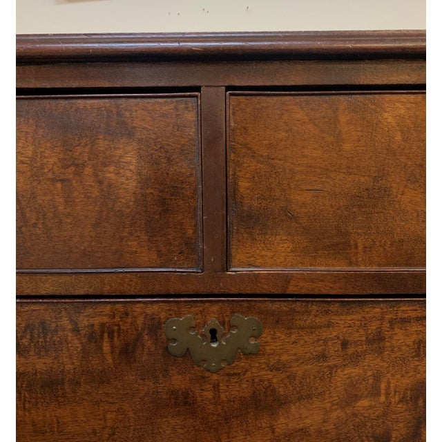 Metal 1800s English Georgian Mahogany 5 Drawer Dresser Chest For Sale - Image 7 of 11