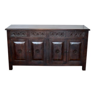 Spanish Style 4 Door Buffet For Sale