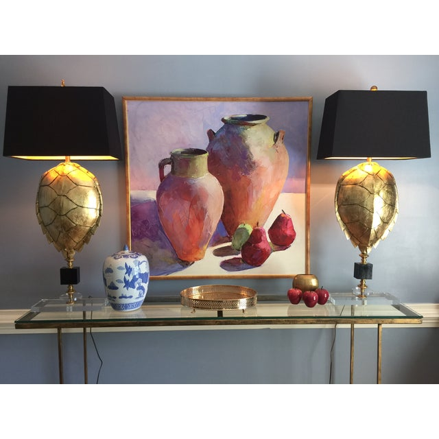 Magnificent Hand Crafted Faux Tortoise Lamps - 2 - Image 9 of 9