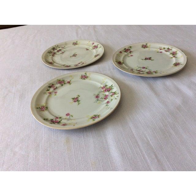 Floral Leaves Salad Plates - Set of 3 For Sale - Image 4 of 4