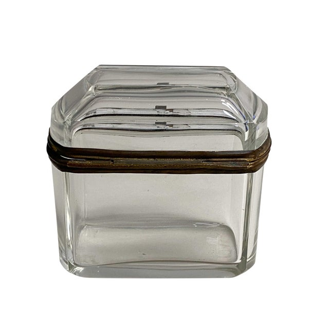 Glass 19th Century French Beveled Glass Box For Sale - Image 7 of 8