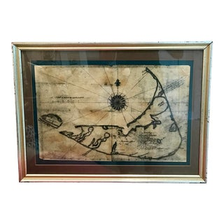 18th C. Nautical Nantucket Map For Sale